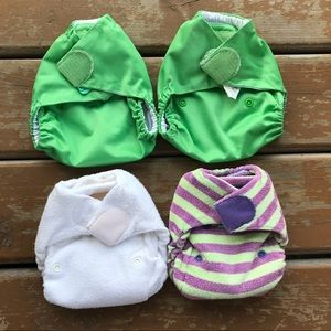 Tots Bots Bamboozle Fitted Cloth Diapers & Covers